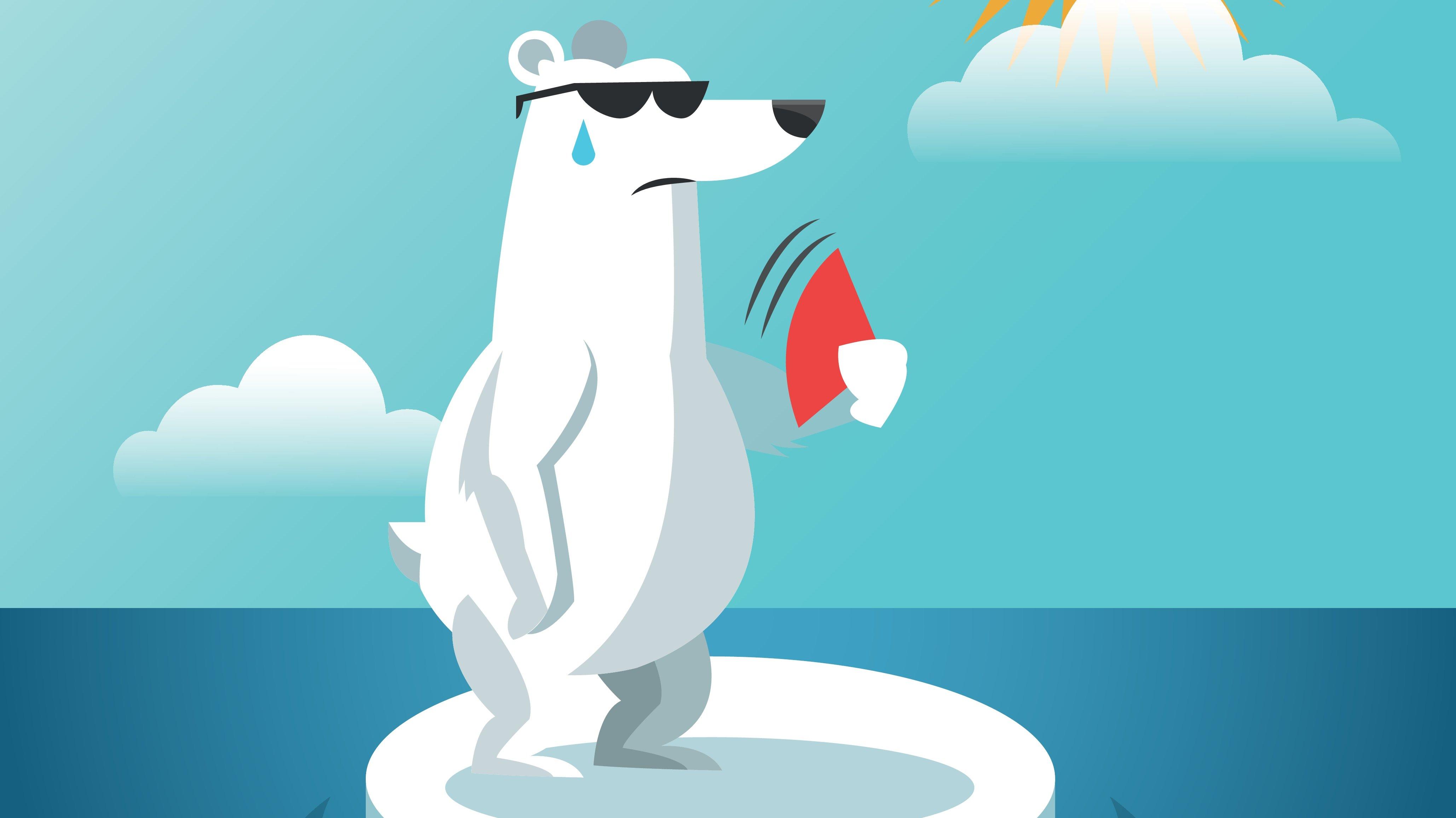 Et newsgame kunne fx handle om en isbjørn, der prøver at undslippe den bagende sol.
