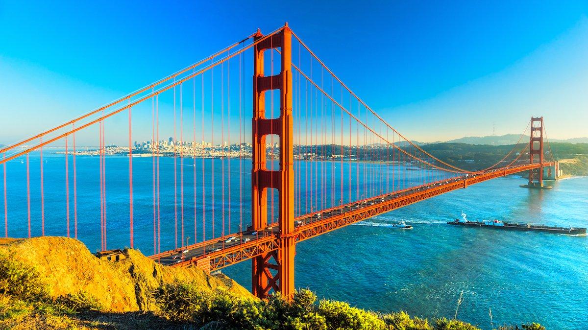 Golden Gate Bridge, San Francisco, USA.