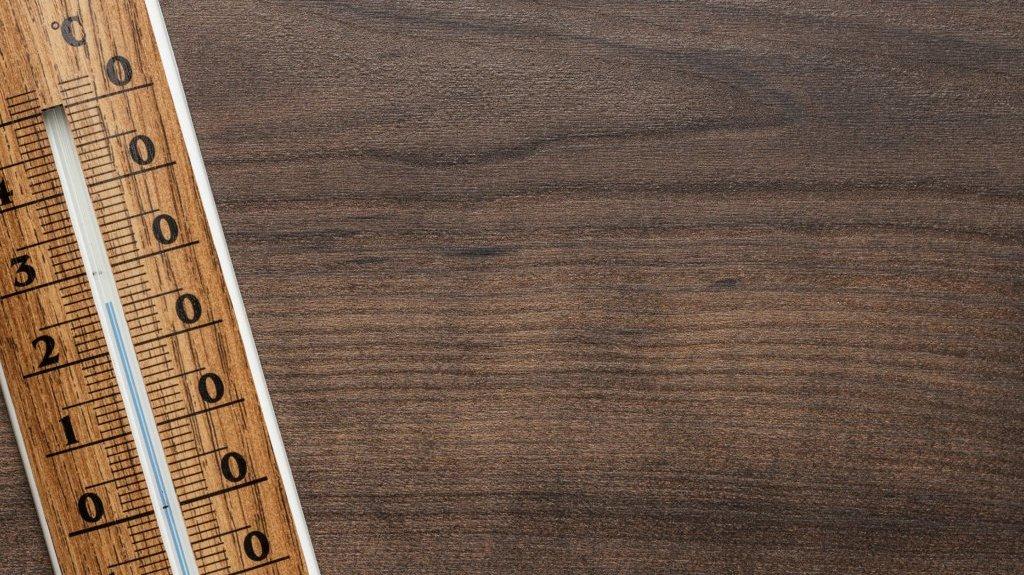 Et termometer kan måle temperaturen.