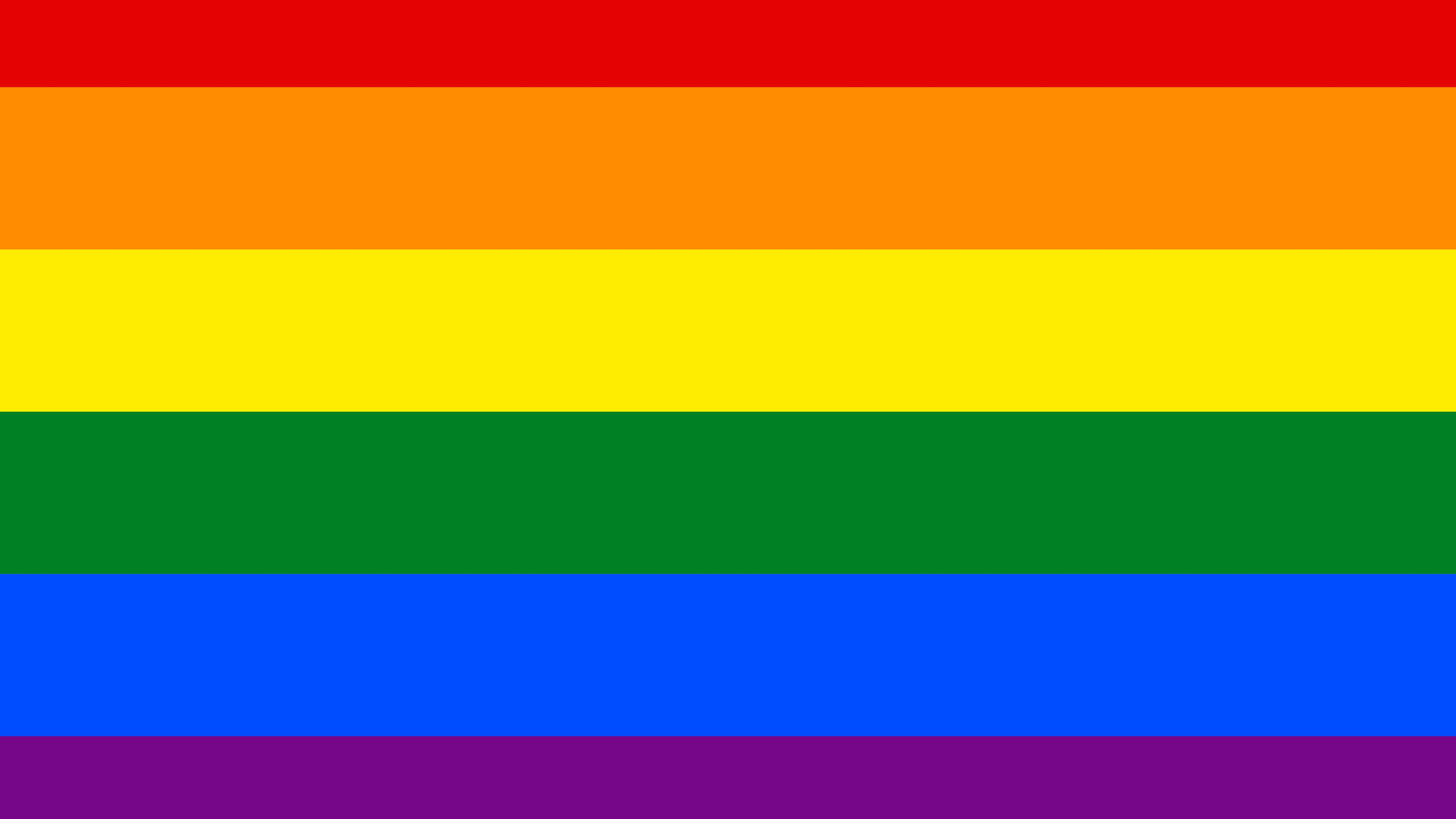 There are many versions of the rainbow flag, but it is first and foremost associated with the LGBT community.