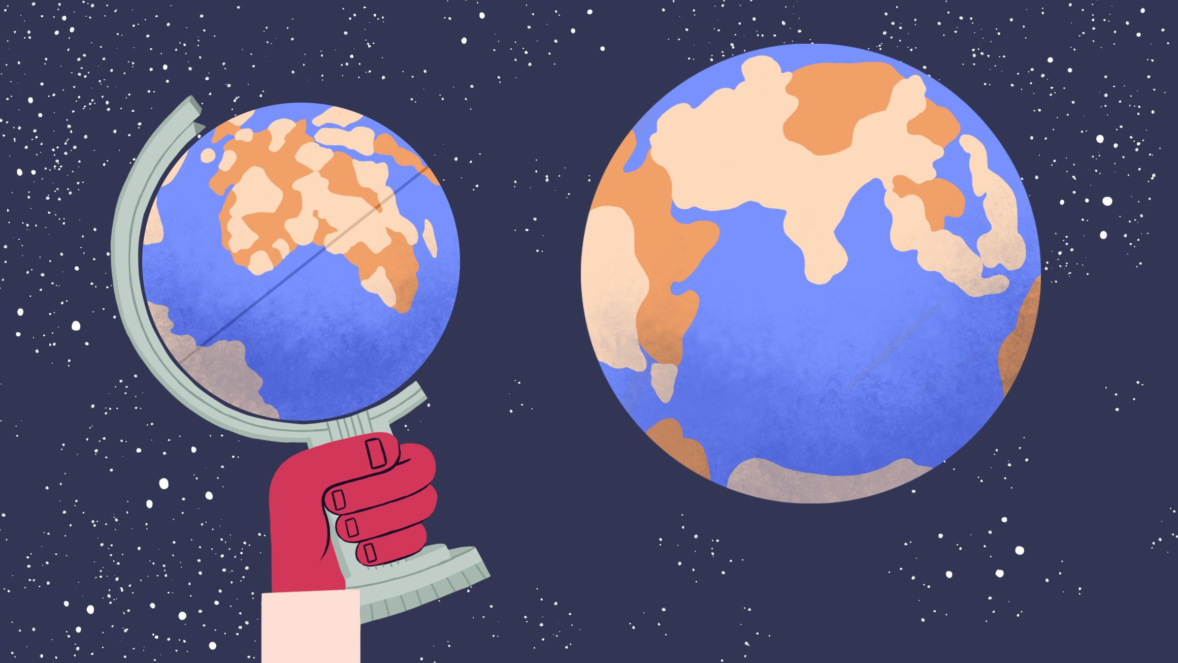 Fra klode til globus