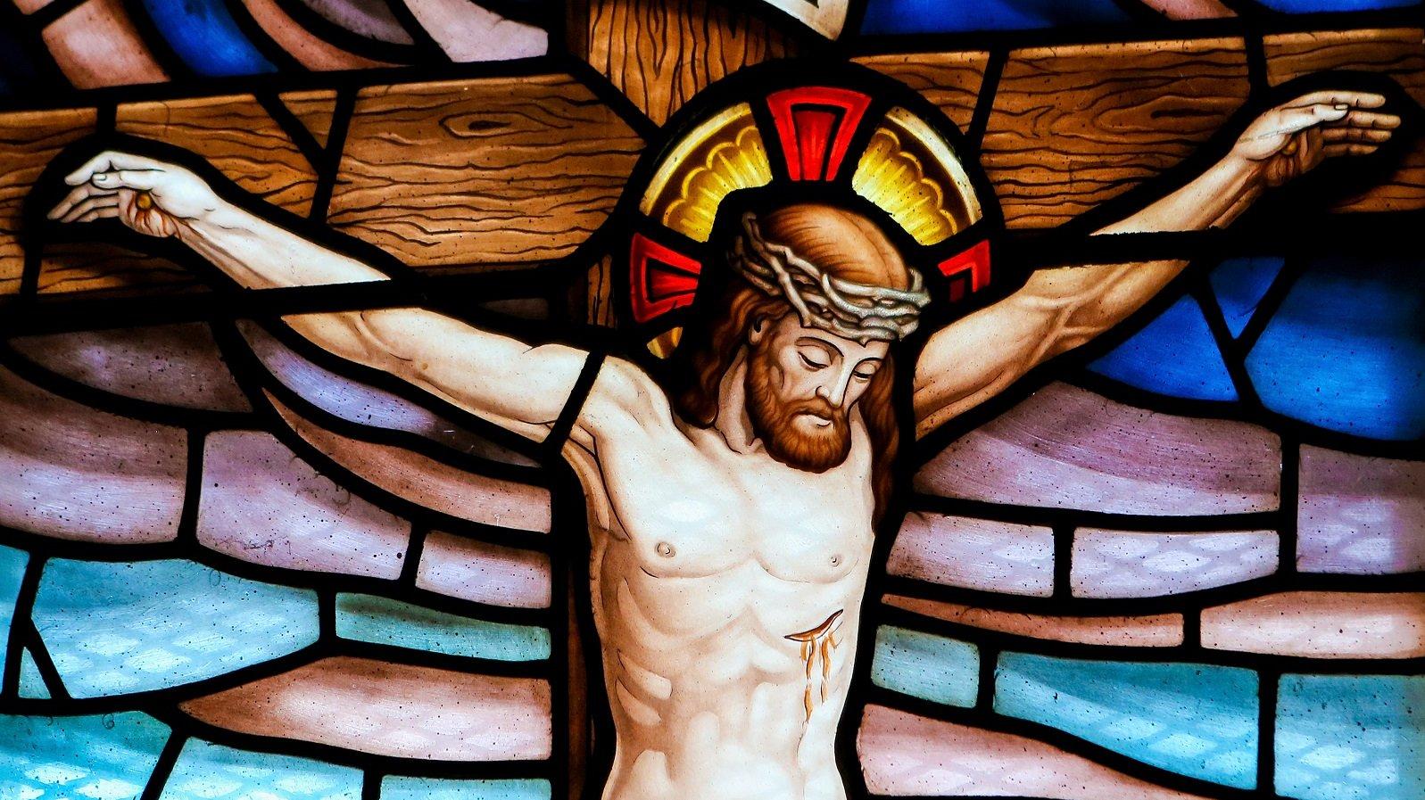 Jesus døde, da han blev korsfæstet på den dag, der kaldes for Langfredag.