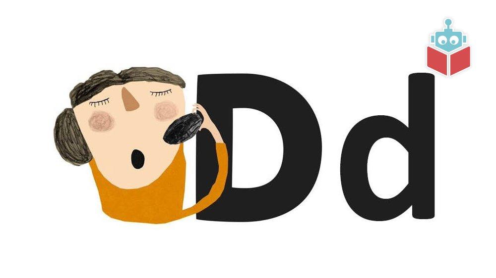 """Ordet """"daddel"""" starter med bogstavet d."""