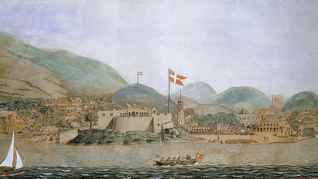Dette forløb gør jer klogere på Danmarks rolle som kolonimagt. Billedet her viser fortet i byen Christiansted på øen Sankt Croix.