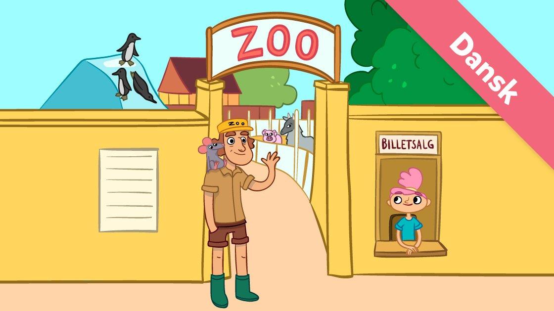 Her er Ea og Jan foran zoo.