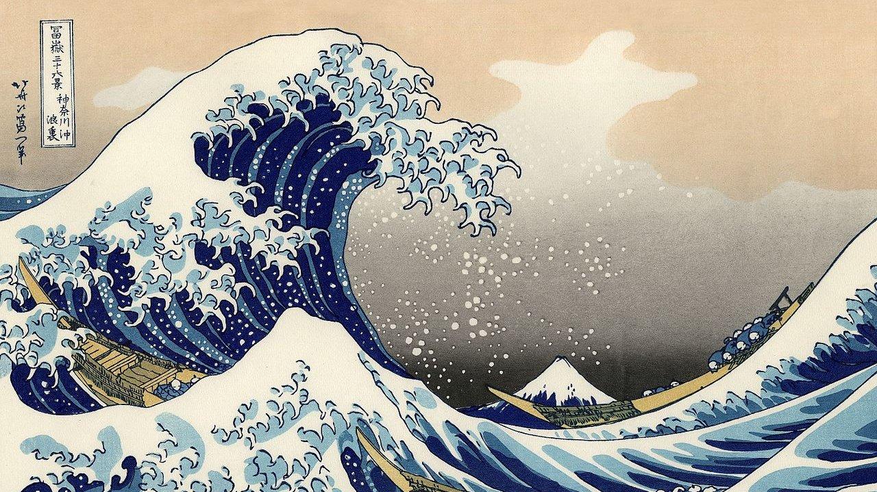 Den store bølge ud for Kanagawa.