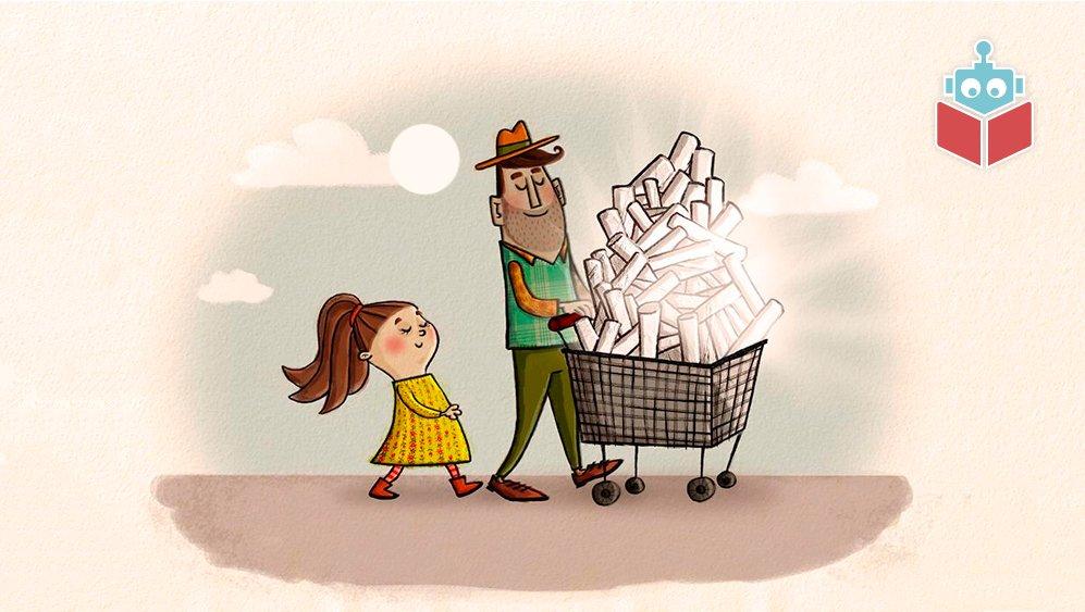 Mia og hendes far har købt en masse plasticrør. Meget mystisk!