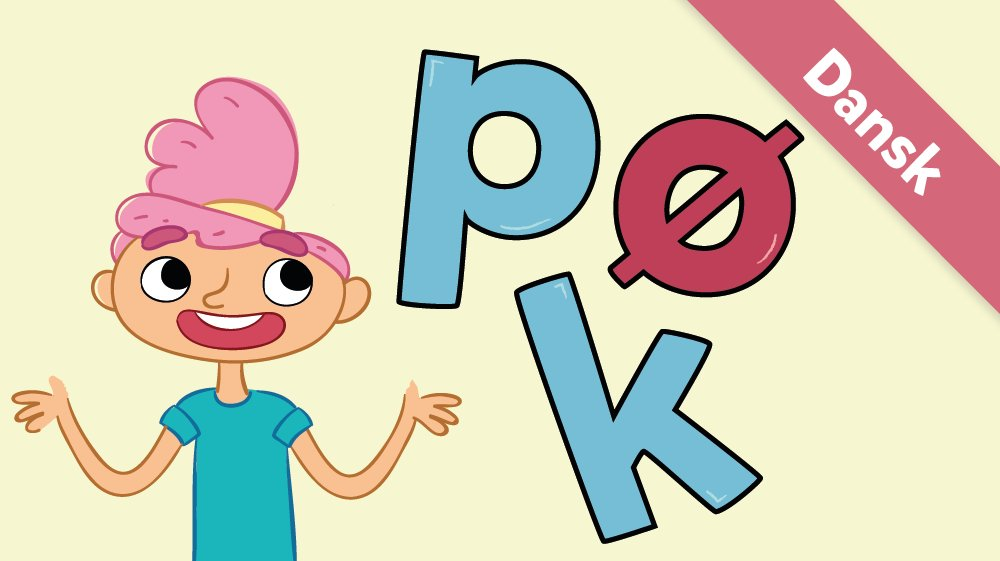 Her er Ea og bogstaverne p, k og ø.