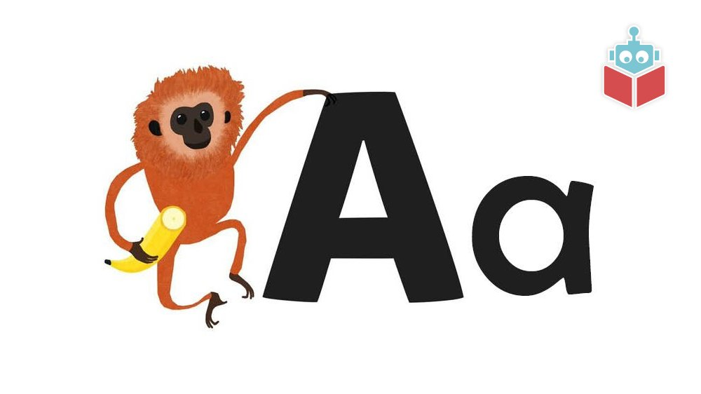 """Ordet """"abe"""" starter med a."""