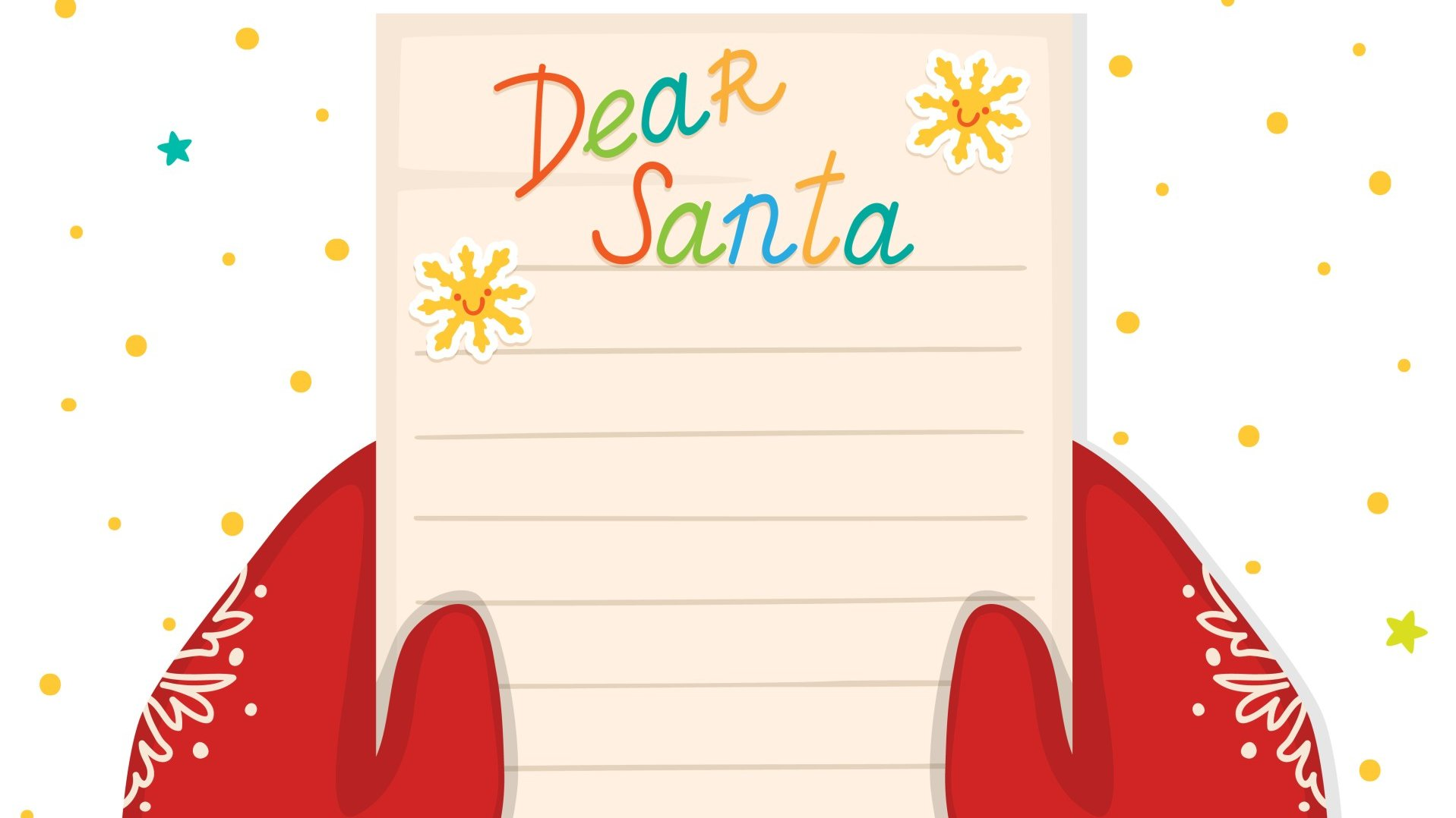 Children can write to Santa Claus and ask for presents.