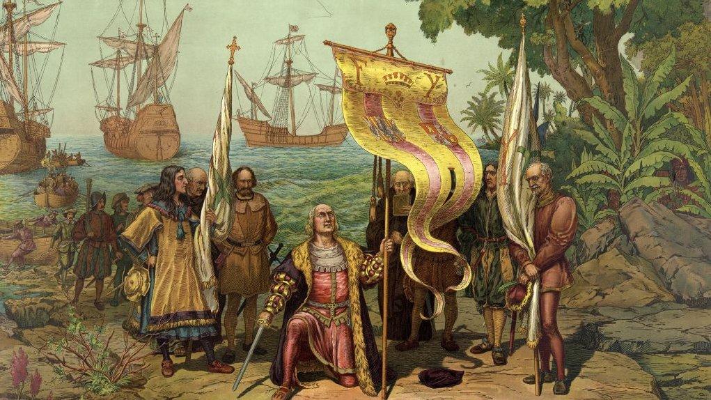 Columbus' første møde med den nye verden.