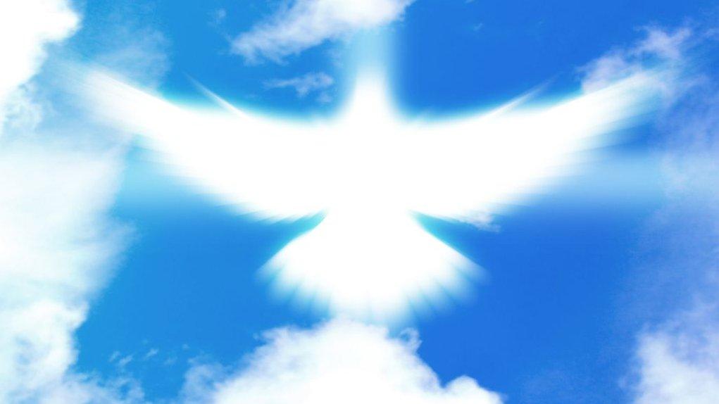 Kristi himmelfart handler om, at Jesus kom op i himlen. I pinsen kom Helligånden til disciplene. Helligånden vises tit som en due.