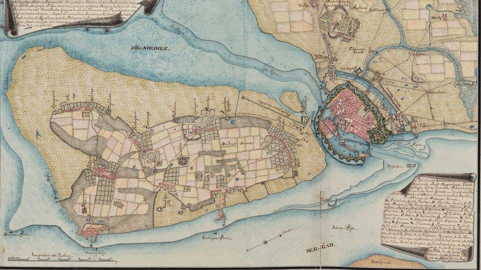 Lokalhistorie handler om historien i et mindre område. På billedet ses et kort over Amager og København fra omkring 1750. Kort kan være en god kilde til at kaste lys over en bys historie.