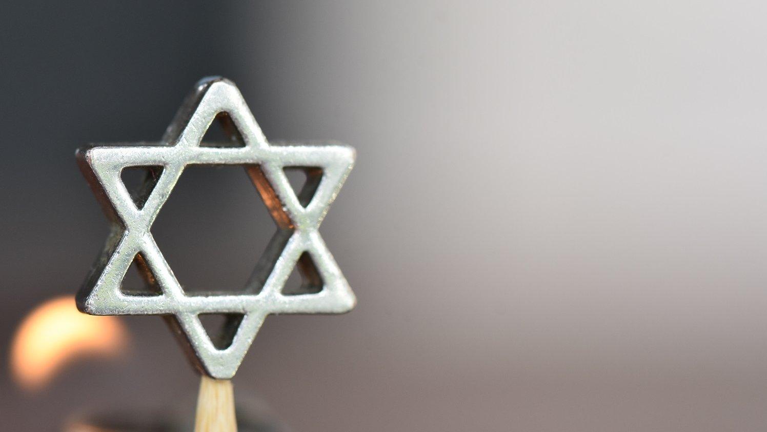 Davidsstjernen er et jødisk symbol.
