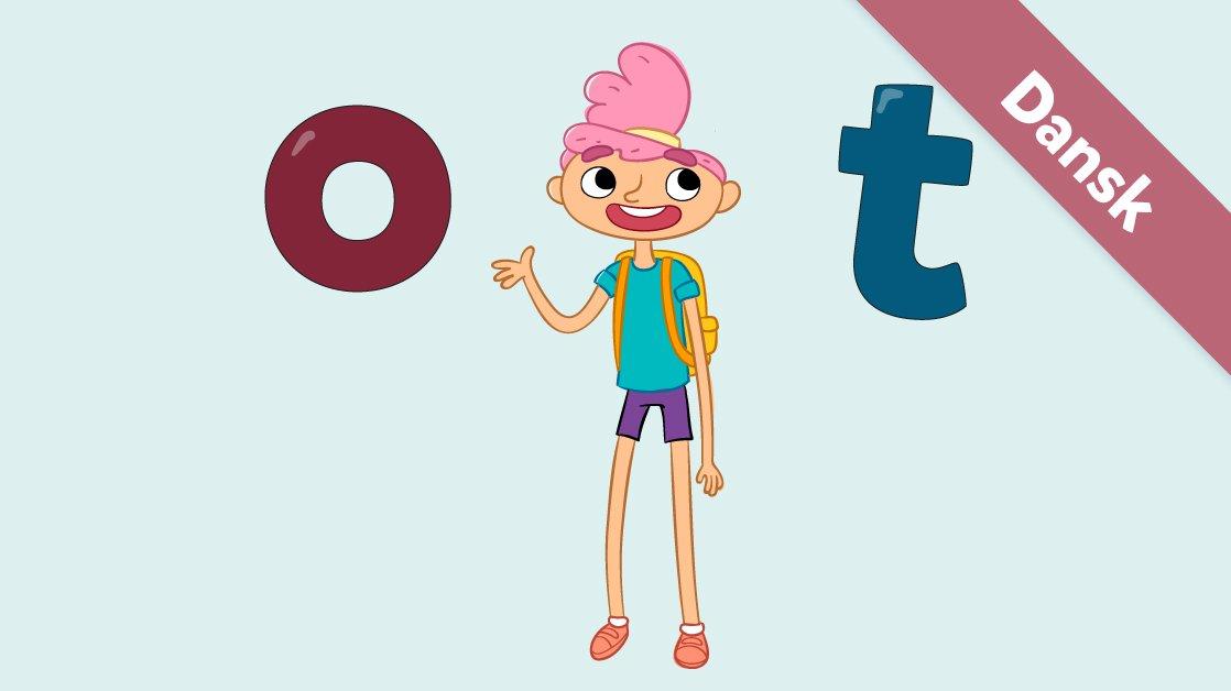 Her er Ea med bogstaverne o og t.