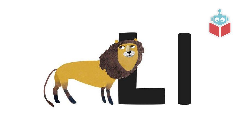 """Ordet """"løve"""" starter med l."""