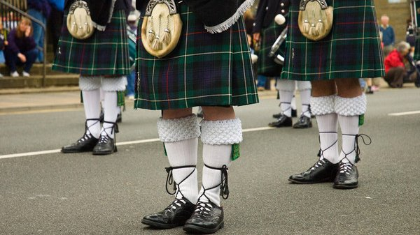 Welcome to Scotland. The home of the bagpipe and the kilt.
