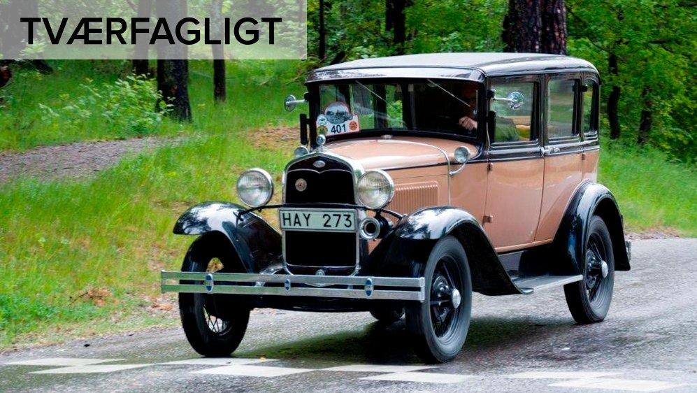 Sådan så biler ud omkring 1930. I dette forløb skal I arbejde med transport og teknologiske opfindelser.