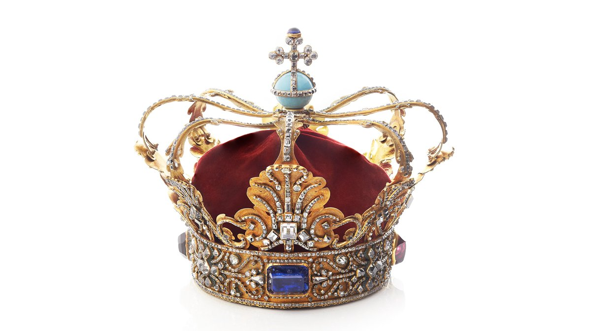 Under enevælden bar næsten alle konger denne krone. Øverst på kronen ses korset, som er et tydeligt symbol på, at kongen modtog sin magt af Gud.