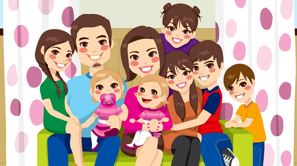 This is a really big family. How big is your family?