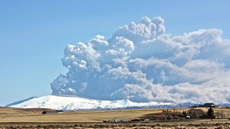 I 2010 gik den islandske vulkan Eyjafjallajokull i udbrud.